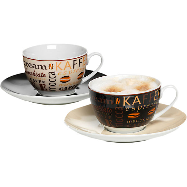2er set cappuccino tassen havanna im geschenkkarton wei yomonda. Black Bedroom Furniture Sets. Home Design Ideas