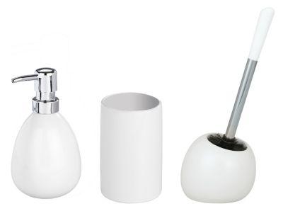 3-tlg. -Accessoire-Set Polaris White, Keramik weiß