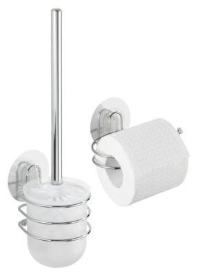 2-tlg. Set Static-Loc WC-Garnitur und WC-Rollenhalter ´´Osimo´´, Befestigen ohne bohren