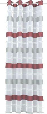Gardine mit Ösen ´´Ludwig´´ 245x135 cm rot/weiß...