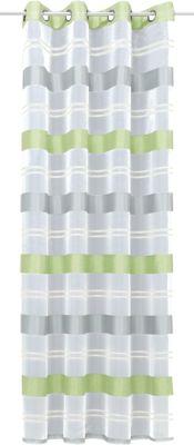 Gardine mit Ösen ´´Ludwig´´ 245x135 cm grün/wei...