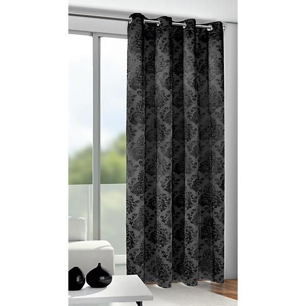 vorhang mit sen dimout 245x135 cm grau yomonda. Black Bedroom Furniture Sets. Home Design Ideas