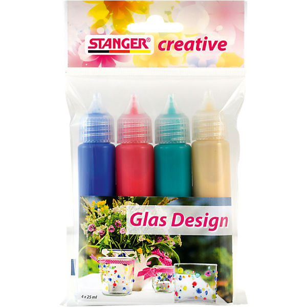Glas Design Set, 4 x 25 ml