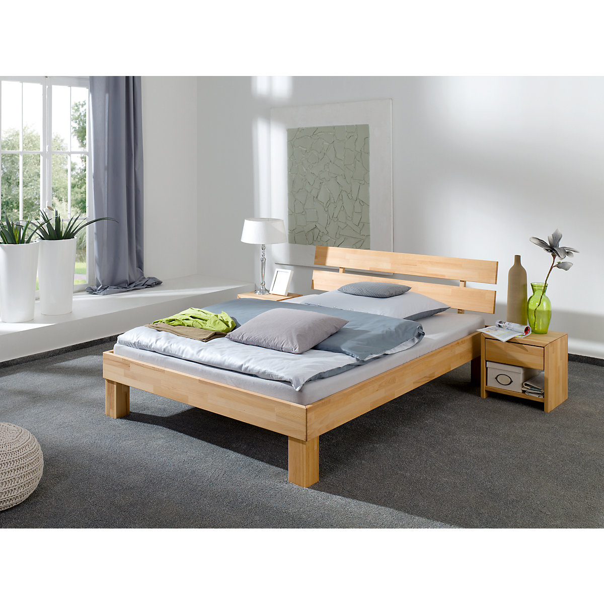 futonbett julia kernbuche massiv ge lt 90 x 200 cm holzfarben relita yomonda. Black Bedroom Furniture Sets. Home Design Ideas