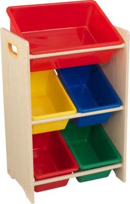 KidKraft 5-Boxen-Regal, mehrfarbig, Gr. Xx | Kinderzimmer > Kinderzimmerregale | Mdf - Holz | KidKraft