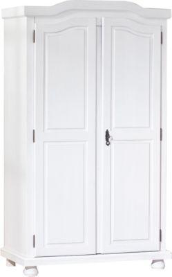 Kleiderschrank Fjodde, 2-türig., Kiefer massiv, weiß