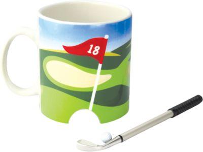 Kaffeebecher ´´Golf´´ mit Schläger & Ball mehrf...
