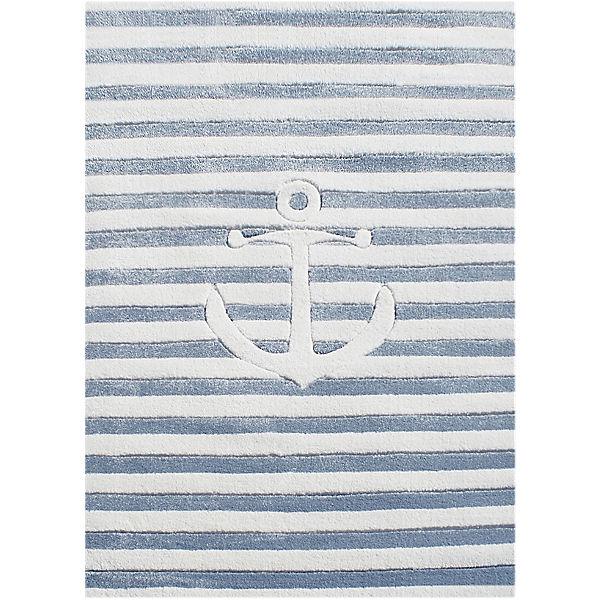 Teppich Maritim kinderteppich auf hoher see 7 maritim blau rugs yomonda