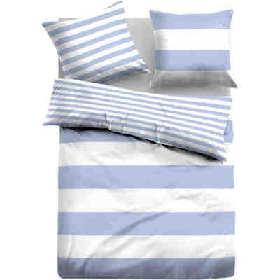 linon bettw sche emma blau tom tailor yomonda. Black Bedroom Furniture Sets. Home Design Ideas