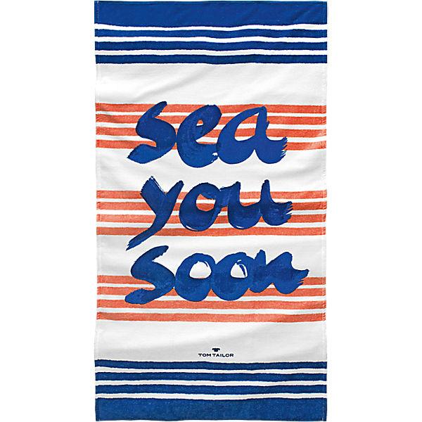 velours strandtuch sea you 85x160 cm blau tom tailor yomonda. Black Bedroom Furniture Sets. Home Design Ideas