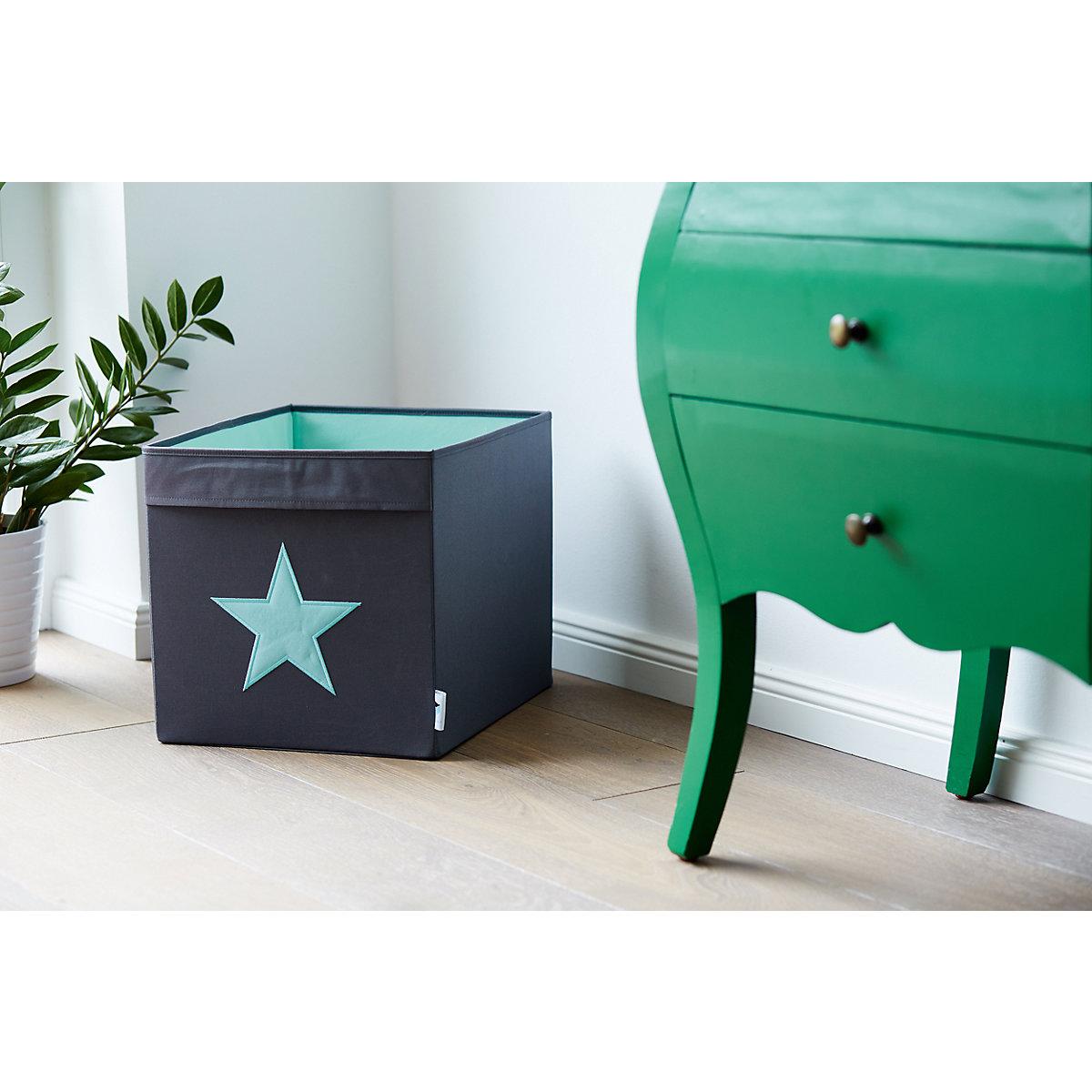 aufbewahrungsbox stern grau mint grau store it yomonda. Black Bedroom Furniture Sets. Home Design Ideas