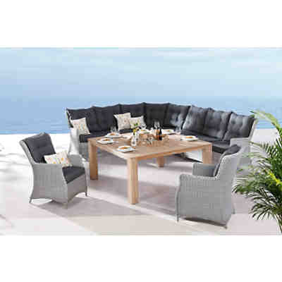 polyrattan mittelteil dining lounge sofa charme grau yomonda. Black Bedroom Furniture Sets. Home Design Ideas