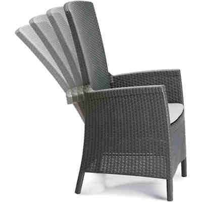polyrattan dining sessel rom grau yomonda. Black Bedroom Furniture Sets. Home Design Ideas