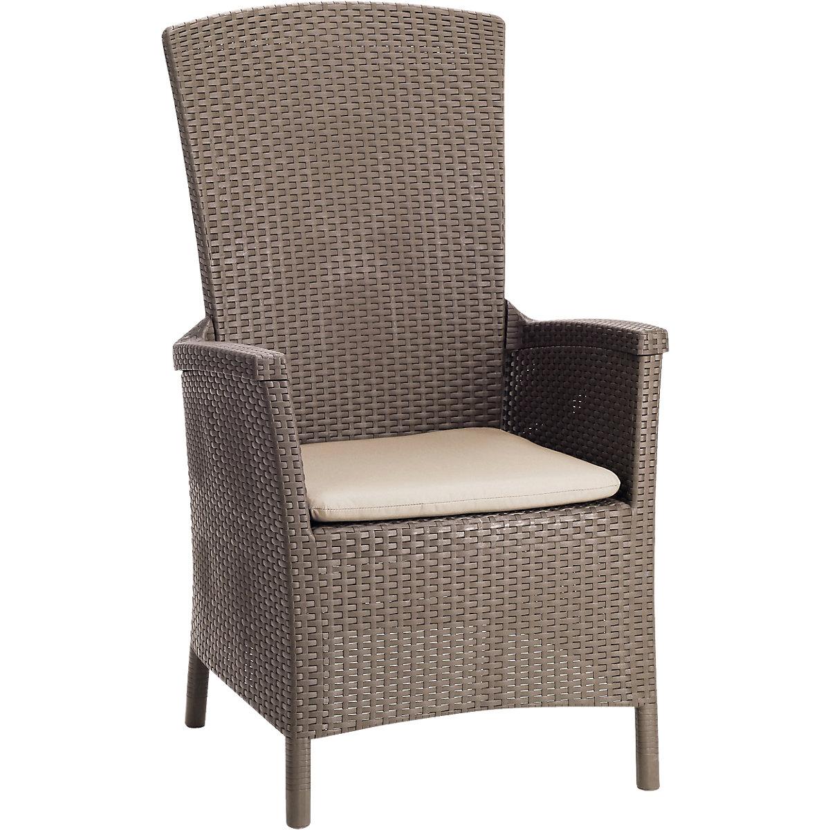 """Polyrattan Relax Sessel """"Sunny"""" mit verstellbarer Rückenlehne beige"""