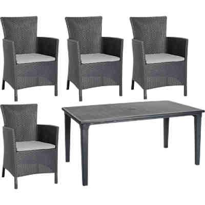 polyrattan relax sessel sunny mit verstellbarer r ckenlehne grau yomonda. Black Bedroom Furniture Sets. Home Design Ideas