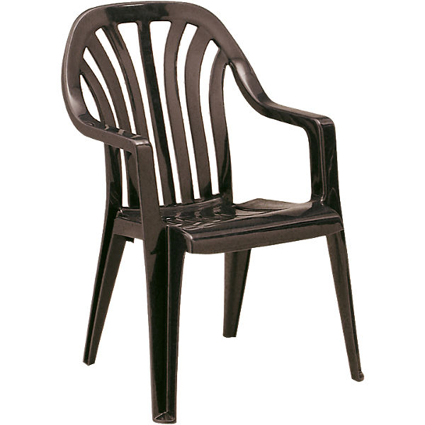 kunststoff gartenstuhl lara stapelbar braun yomonda. Black Bedroom Furniture Sets. Home Design Ideas