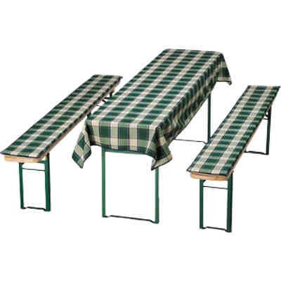 3 tlg auflagen tischdecken set karo f r bierbank rot yomonda. Black Bedroom Furniture Sets. Home Design Ideas