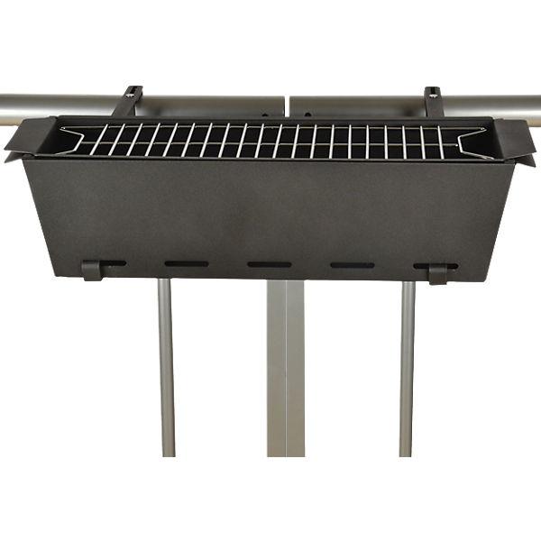 balkon grill mit klemmen grau yomonda