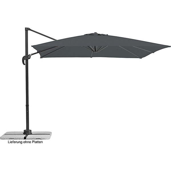 ampel sonnenschirm rhodos junior 270x270cm grau schneider schirme yomonda. Black Bedroom Furniture Sets. Home Design Ideas