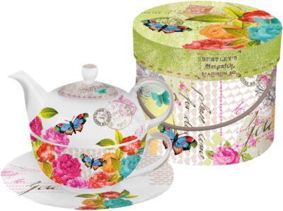 Teekanne & Teetasse Set ´´Love Letter´´ in Gesc...