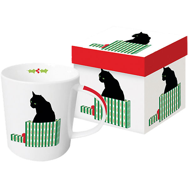 "Kaffeebecher ""Black Cat Cardeau"" in Geschenkbox"
