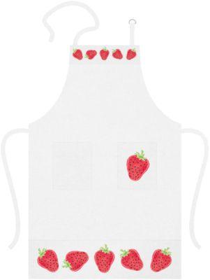 Küchenschürze ´´Erdbeere´´ rot/weiß