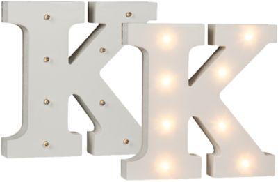 LED Leucht-Buchstabe K H16 cm weiß   Lampen > Dekolampen   yomonda