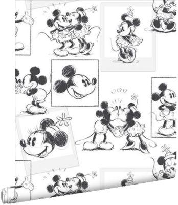 Tapete Mickey & Minnie Mouse, 10 m x 53 cm, weiß, Disney Mickey Mouse &  friends