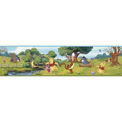 Bordüre Winnie Puuh, bunt, 4,57 m x 22,86 cm, mehrfarbig, Disney Winnie Puuh