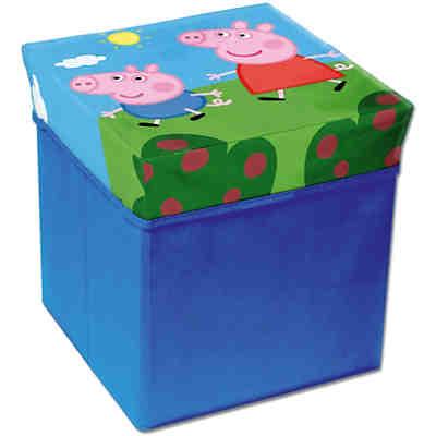 sitzw rfel aufbewahrungsbox rosenfee blau haba yomonda. Black Bedroom Furniture Sets. Home Design Ideas