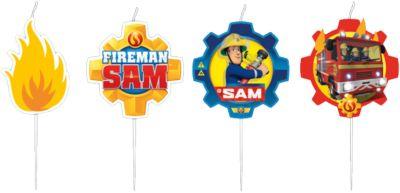 Figurenkerzen Feuerwehrmann Sam, 4 Stück