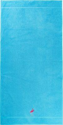 myToys-COLLECTION Badetuch Flamingo, 70 x 140 cm blau | Bad > Handtücher > Badetücher | myToys-COLLECTION