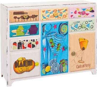Kommode & Anrichte ´´Cocktail´´ mit 6 Schubladen + 3 Türen mehrfarbig