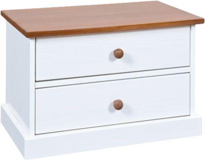 Kommoden Schränkchen ´´Country´´ mit 2 Schubladen braun/weiß