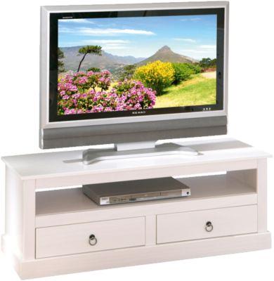 Massivholz TV-Board ´´Roma´´ mit 2 Schubladen weiß
