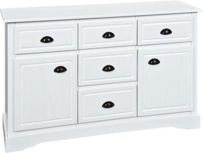 Kommode ´´Adele´´ mit 5 Schubladen und 2 Türen weiß