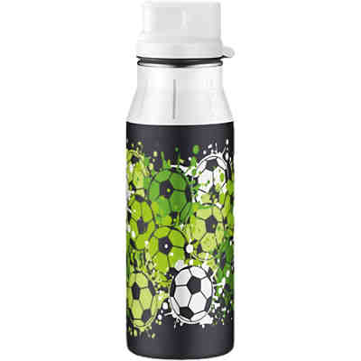 Trinkflasche elementBottle Soccer Green, 600 ml