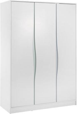 Kleiderschrank Wave Pastell, 3-türig, weiß/blau