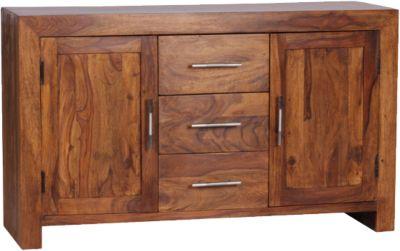 Sheesham Sideboard ´´Mona´´ Massivholz 118x40 cm braun