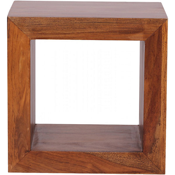 "Sheesham Regal ""Block"" Massivholz, 1 Fach, 44x44 cm"