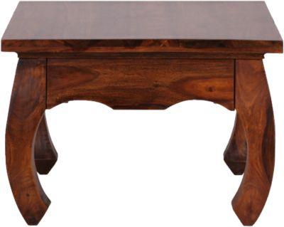 Sheesham Couchtisch ´´Opium´´ Massivholz 60x60 cm braun