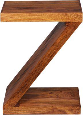WOHNLING Beistelltisch MUMBAI Massivholz