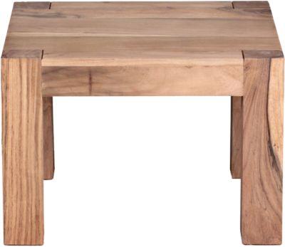 Akazien Couchtisch ´´Kimal´´ Massivholz 60x60 cm beige