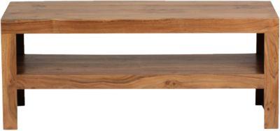 Akazien Couchtisch ´´Dina´´ Massivholz 110x45 cm beige