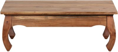 Akazien Couchtisch ´´Opium´´ Massivholz 110x60 cm beige