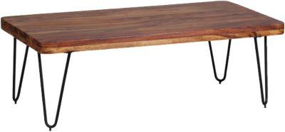 Sheesham Couchtisch ´´Tree´´ Massivholz/Metall, 115x60 cm braun