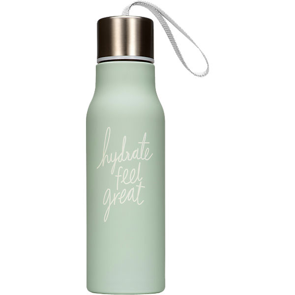 "Trinkflasche ""hydrate feel great"""