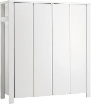 Kleiderschrank Milano Weiß, weiß, 4-türig