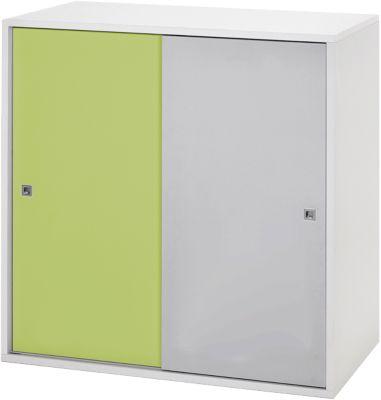 Schardt Kommode Clic, grün/grau, 2-türig