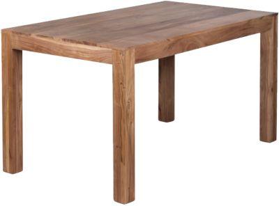 Akazien Esstisch ´´Boja´´ Massivholz 140x80 cm beige